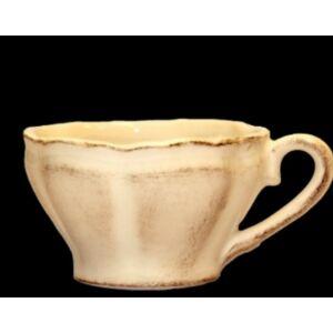 Kerámia teás csésze kézzel festett - romantikus