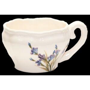Kerámia teás csésze Levendula - kézzel festett - romantikus