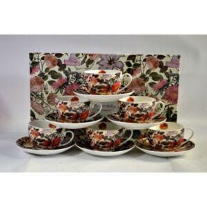 Porcelán teás készlet 290ml Floral Dream, 6személyes díszdobozban Floral Dream kollekció