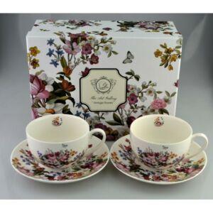 Porcelán teás készlet 300ml Vintage Flowers, 2x300ml-es díszdobozban Vintage Flowers kollekció