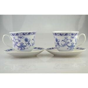 Porcelán teás szett Kék 8, 1x13, 7cm, díszdobozban