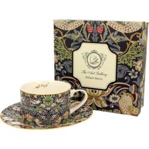 Porcelán csésze+alj 250ml William Morris Eper