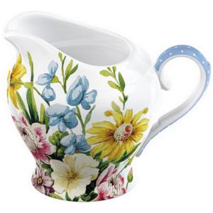 Porcelán tejkiöntő virágos English Garden porcelán