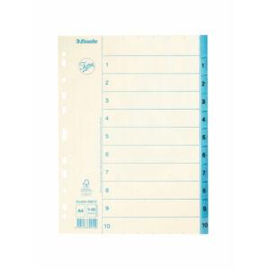 Regiszter Esselte 1-10 papír 1-10 A4 Esselte 10db rendelési egység ár 1db-ra