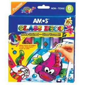 Üvegfóliafesték Amos készlet 6x10, 5ml