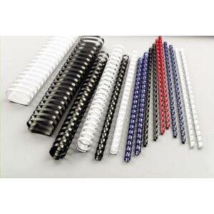 Spirál 10mm Fellowes műanyag 41-55 lapig, fehér 25db/csomag