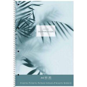 Spirálfüzet A4 kockás 80 lap, SHKOLYARYK Inspiration Spirálfüzetek A4, papír borítóval