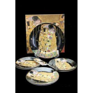 Süteményes készlet lapáttal 6személyes 27x19cm Klimt: The Kiss