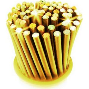 Swarovski ceruza arany testű 2 Aquakék Kristállyal Made With Swarovski Elements