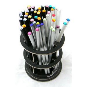 Swarovski ceruza ezüst testű 2 Élénk Narancs Kristállyal Made With Swarovski Elements