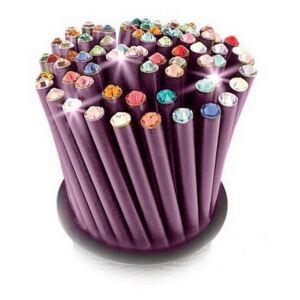 Swarovski ceruza lila testű 20 Black Diamond Kristállyal Made With Swarovski Elements