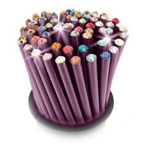 Swarovski ceruza lila testű 20 Pezsgő Kristállyal Made With Swarovski Elements
