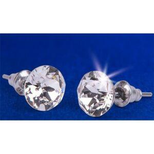 Swarovski fülbevaló Hölgyeknek kristállyal, natúr fehér csúcsos, 8mm