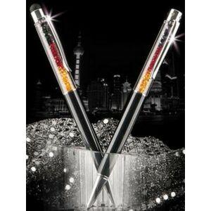 Swarovski toll C. fekete testű Fekete-Piros-Topázsárga Kristály Tölt. G Made With Swarovski Elements