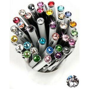 Swarovski toll E. fekete testű Ezüst Kristály Gravírozható Made With Swarovski Elements