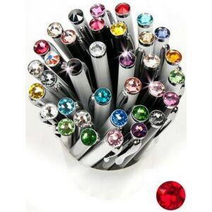 Swarovski toll E. fekete testű Siam Piros Kristály Gravírozható Made With Swarovski Elements