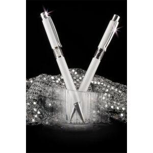 Swarovski toll fehér Lily középen fehér kristály 14CM MADE WITH SWAROVSKI ELEMENTS