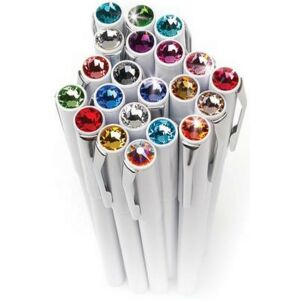 Swarovski toll M. fehér testű Mágneses Aquakék Kristály Gravírozható Made With Swarovski Elements
