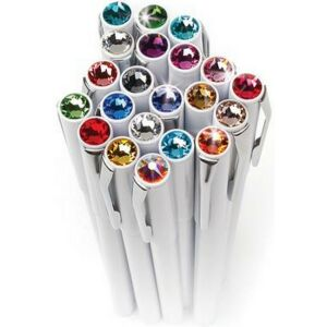 Swarovski toll M. fehér testű Mágneses Éjfekete Kristály Gravírozható Made With Swarovski Elements