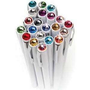 Swarovski toll M. fehér testű Mágneses Rózsaszín Kristály Gravírozható Made With Swarovski Elements