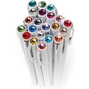 Swarovski toll M. fehér testű Mágneses Tanzanite Lila Kristály Gravíro Made With Swarovski Elements