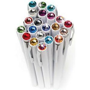 Swarovski toll M. fehér testű Mágneses Topáz Kristály Gravírozható Made With Swarovski Elements