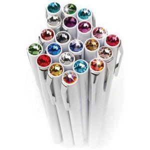 Swarovski toll M. fehér testű Mágneses Zafírkék Kristály Gravírozható Made With Swarovski Elements