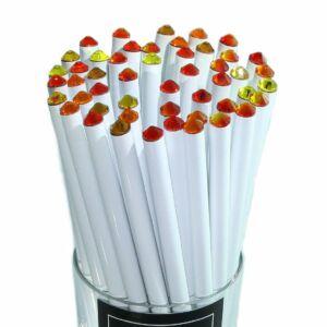 Swarovski Zötzl fehér ceruza végén vegyes élénk színű kristállyal MADE WITH SWAROVSKI ELEMENTS