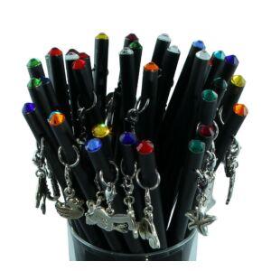 Swarovski Zötzl fekete ceruza Medállal és Sw. kristállyal díszített MADE WITH SWAROVSKI ELEMENTS