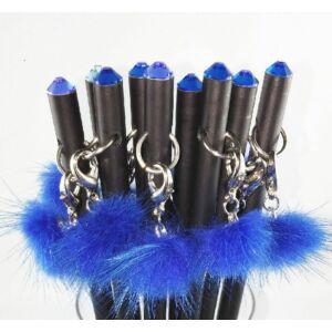 Swarovski Zötzl fekete ceruza Szőrmével és Sw. kristállyal díszített MADE WITH SWAROVSKI ELEMENTS
