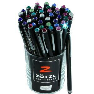 Swarovski Zötzl Touch toll fekete/fehér tolltest színes kristállyal 13cm MADE WITH SWAROVSKI ELEMENTS