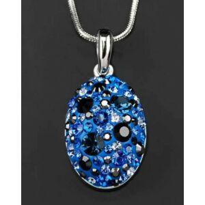 Swarovski nyaklánc hölgyeknek kék kristályokkal díszített