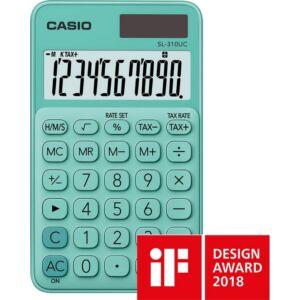 SzámoLógép Casio SL-310UC GN 10digites zsebszámológép zöld CASIO SL 310 UC Trendy Colours sorozat