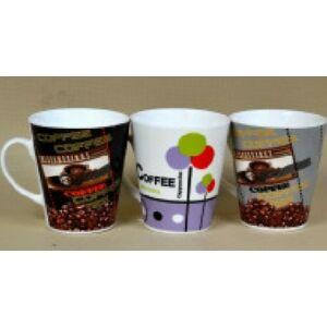 Bögre kávés dekorral 300ml porcelán