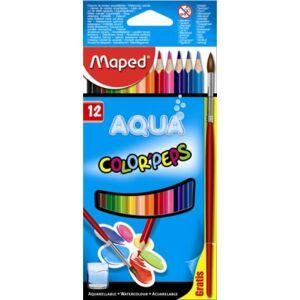 Színes ceruza Akvarell Maped 12db Color'Peps háromszög +ecset Írószerek MAPED 836011