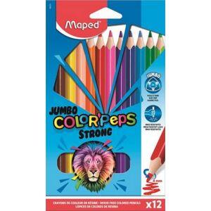 Színes ceruza 12 Maped Color'Peps Strong Jumbo háromszög 24szín Írószerek MAPED 863312