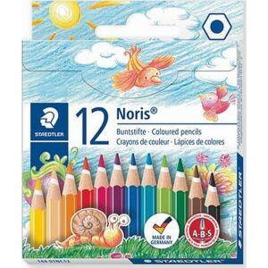 Színes ceruza 12 Staedtler Noris Club hatszögletű félhosszú 12színű Írószerek STAEDTLER 144 01NC12