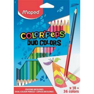 Színes ceruza 18 Maped Color'Peps Duo/kétvégű háromszögű 36szín Írószerek MAPED 829601