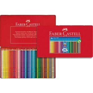 Faber-Castell színes ceruza 36db Grip háromszögletű Akvarell fémdobozban névcimke etikettel 112435 11