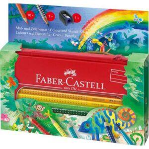 Faber-Castell színes ceruza 16db Grip festő és rajz készlet Dzsung 112452