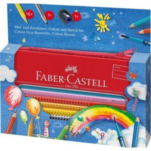 Faber-Castell színes ceruza 16db Grip készlet fém tolltartóban 112450
