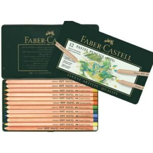 Faber-Castell színes ceruza 12db Pitt pasztell művészceruza készlet AG-Pitt fém dobozban 112112