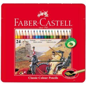 Faber-Castell színes ceruza 24db -os színes ceruza fémdoboz 115845