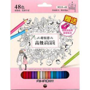 Színes ceruza készlet 48db Aihao 9018-48
