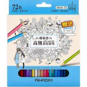 Színes ceruza készlet 72db Aihao 9018-72