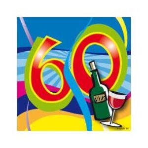 Szalvéta Party bulis 60-as 25x25cm 3 rétegű 20lap/csomag