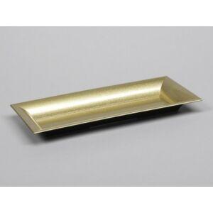 Tálca műanyag 28x12cm arany