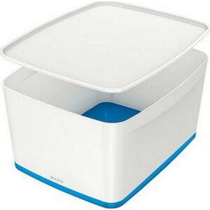 TároLó doboz fedővel nagy LEITZ MyBox fehér-kék