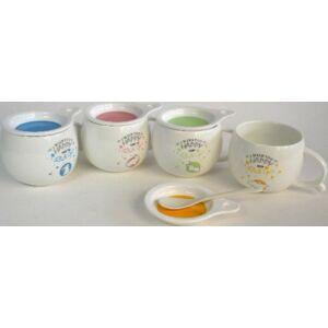 Bögre kerámia teás nyusziS +KA TETŐVEL, 370 ML, NYUSZIS
