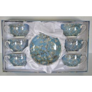 teáskészlet 6 db-os Van Gog mandulavirág mintás 280ml finom porcelán